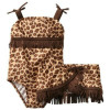 Leopard Print Bathing Suits for Baby and Toddler Girls