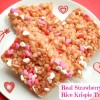 Real Strawberry Valentine Rice Krispie Treats