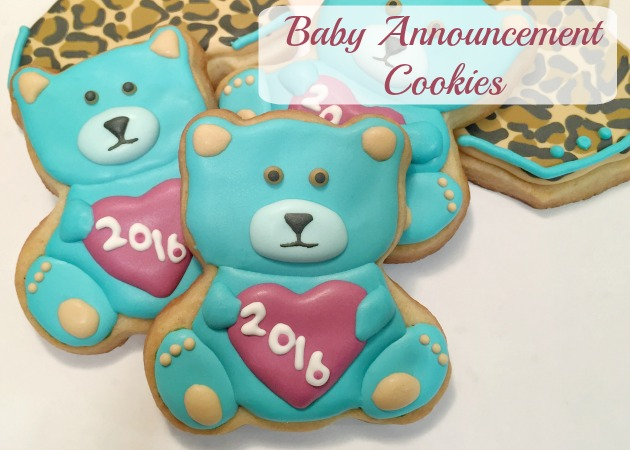 Baby Announcement Cookies