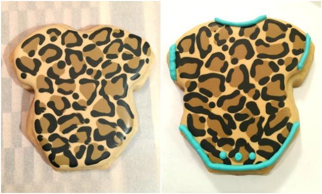 Leopard Onesie Baby Shower Cookies