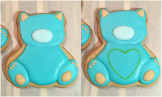 Teddy Bear Baby Cookies