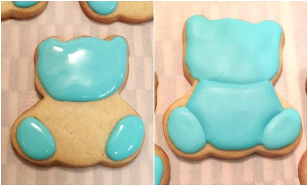 Teddy Bear Pregnancy Announcement Cookies
