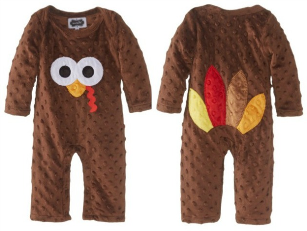 944fe57f2 Too Cute Thanksgiving Baby Outfits. Mud Pie Turkey Baby Jumpsuit